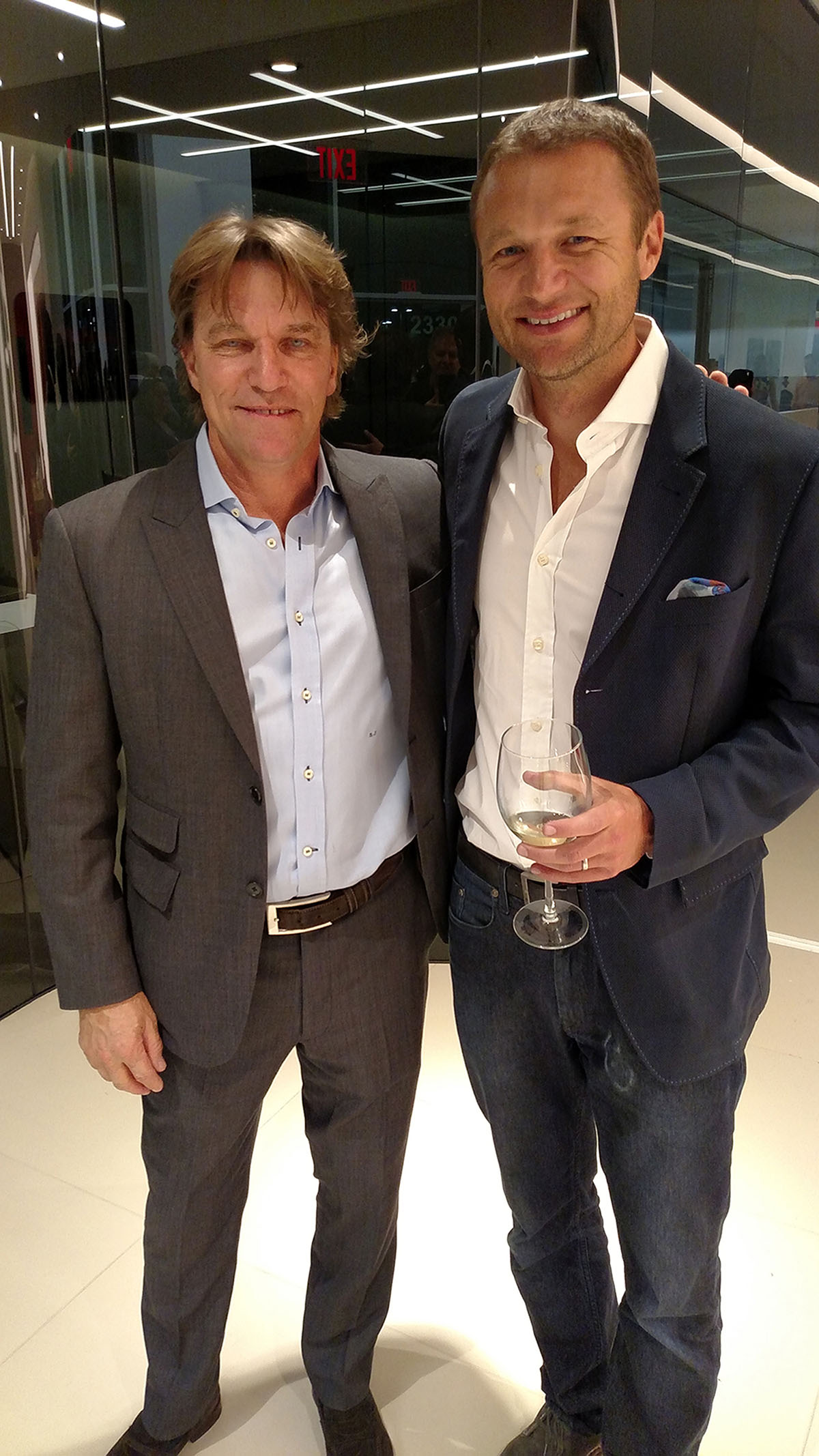 Stefan Johansson and Townsend Bell, Photo by Randy Evans for Jephoto