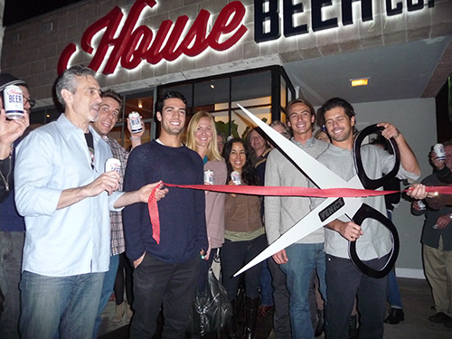 House Beer Ribbon Cutting Ceremony at its new location 219 Rose, Venice