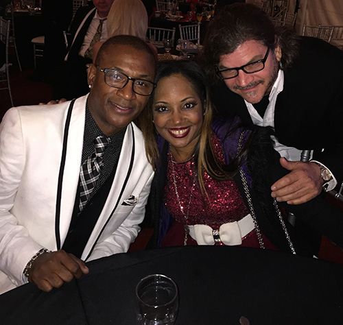 "Tommy Davidson Emcee for the night with Gisele ""Shooter Diva"" Ozeri and CAM"