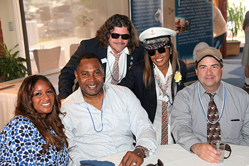 Captain Joseph H. Stephen and His Wife Sheila along with Marina Del Rey Support Unit Board members Gisele Ozeri and CAM attending the CYC Opening Day 1 on March 7, 2015