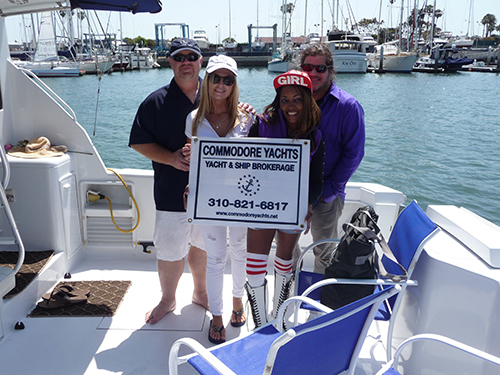 "Johnathan Grell Commodore Yachts ""Chaser"" with Gisele and CAM MVYC"