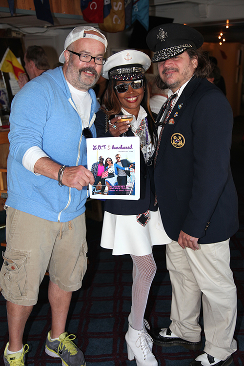 "Celebrity Chef Roy Handler, Celebrity Photographer Gisele ""Shooter Diva""(MVYC 2015 Secretary) and CAM (MVYC 2015 Fleet Captain, Hands On Productions)"
