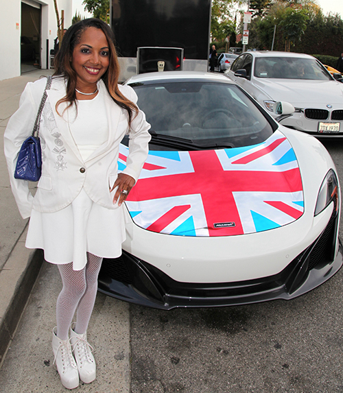 Shooter Diva attending the Auto Gallery Beverly Hills Launch Private Invite Only Launch Party for McLaren 570S