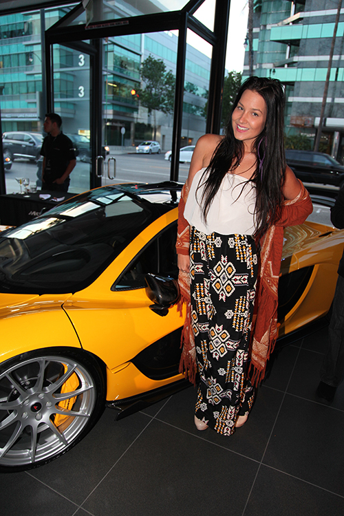 Heart Hays attending the Gala Launch Party for the McLaren 570S