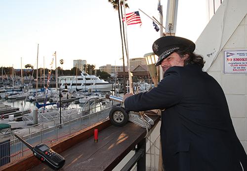 MVYC Fleet Captain CAM ready for Synchronized Cannon Fire