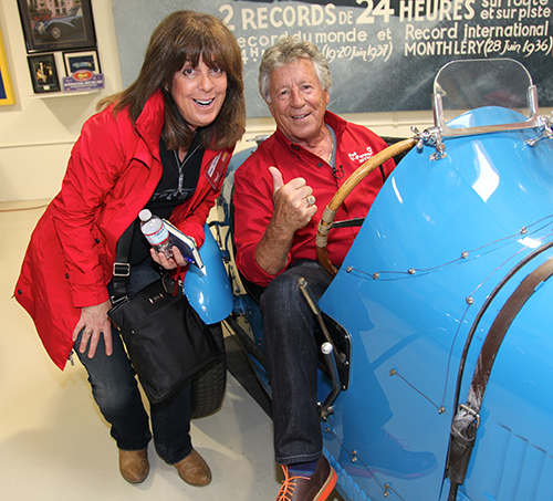Racing Legend Mario Andretti with Deb Pollack, Ferrari Club of America