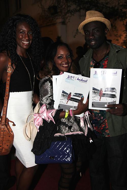 Carlina Rebeiro and Gisele Rebeiro Ozeri at one of Sam's last appearances during Fashion Week at Art Hearts Fashion