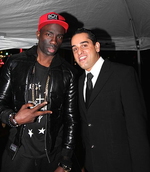 Leo Gov with Sam Sarpong Jr. photo courtesy Partyby5.com