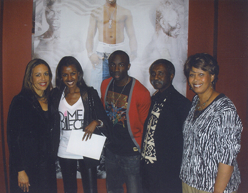 The Sarpong Family: From left to right artist Toni Scott, June Sarpong (sister), Sam Sarpong, Sam Sarpong Sr, (father), Sharon Sarpong (step-mother), photo courtesy of The Sarpong Family