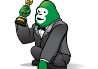 Oscar Fan Green Gorilla Goes backstage and Hits the Oscar Red Carpet!