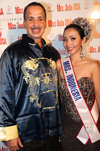 Jarvee Hutcherson with Miss Indonesia 2015