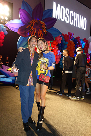 Gene Chang attending Moshino SS17 at  LA Live June 10, 2016