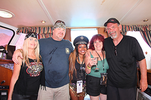"""Marina Yacht Club, Captain Jonathan Grell, Tanya, Commodore Gisele """"Shooter Diva"""", Past Vice Commodore Rick Fried and Helene Fried aboard Nicolas Coster's Yacht"""
