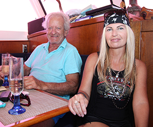 Nicholas Coster and Tanya Grell attending 26th Annual Buccaneer Days Catalina Island
