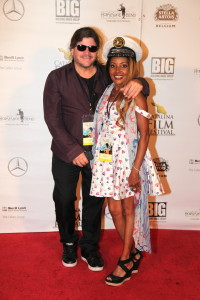 "CAM, Hands On PR and Gisele ""Shooter Diva"" Award winning Photojournalist SPLASH LA, GOT Anchored Magazine, Partyby5.com @Partyby5 @Gotanchored @Shooterdiva Fashion: Dress by Varga, Jewelry by KDLUXE, Tiffany Bracelet, Shoes by Ugg"