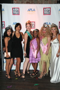 Miss/Mrs Diversity & Miss/Mrs. Diversity News Pageant Contestants attending AIDS WALK LA Kick off Party