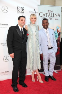 Ron Truppa (Founder Catalina Film Festival), Jaime King (Custody), and Delious Tim Kennedy (Co-Founder Catalina Film Festival)