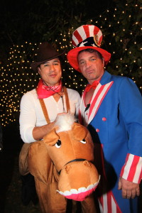 Mario Lopez Hosts Halloween House Party at Private Mansion in Tarzana