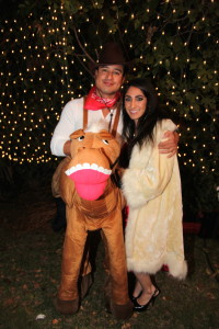 Mario Lopez Hosts First Annual Halloween House Party with Mojan Nourbakhsh