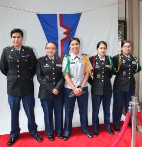 Gardena High School Colour Guard