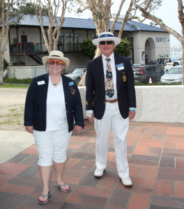 ASMBYC Vice Commodore Kathryn StAmant and Commodore Patrick Shuss