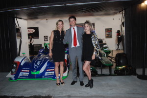 Lisa Clark (Driver Fast Toys Club), Chris Carel (Fast Toys Ferrari Challenge Driver & CEO Fast Toys) and Leah Clark