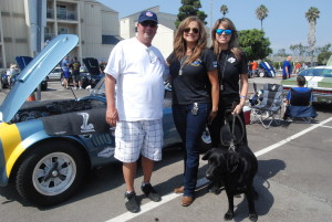 Tanya Owens and Family attending LASD Steve Owens Memorial Benefit in Marina Del Rey