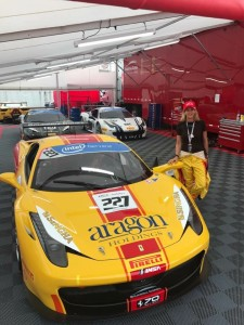 Lisa Clark Fast Toys Driver, Circuit of the Americas Ferrari Challenge. Photo courtesy Fast Toys Club (Los Angeles)