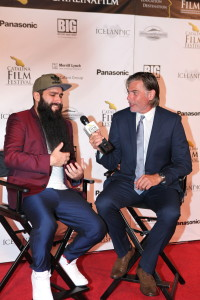 Jordan Vogt-Robertswinner of The Crest Award - Best Director, on the red carpet interview with Geoff Boucher LA Times