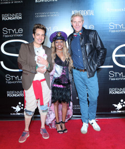 Pol Atteu, Snow White 90210 and Patrik Simpson (PPBOYZ) with Gisele @Shooterdiva (Paparazzi Comedy wearing Sue Wong & FSLA, Jeffrey Campbell Shoes) attending  Style Fashion Week SS18